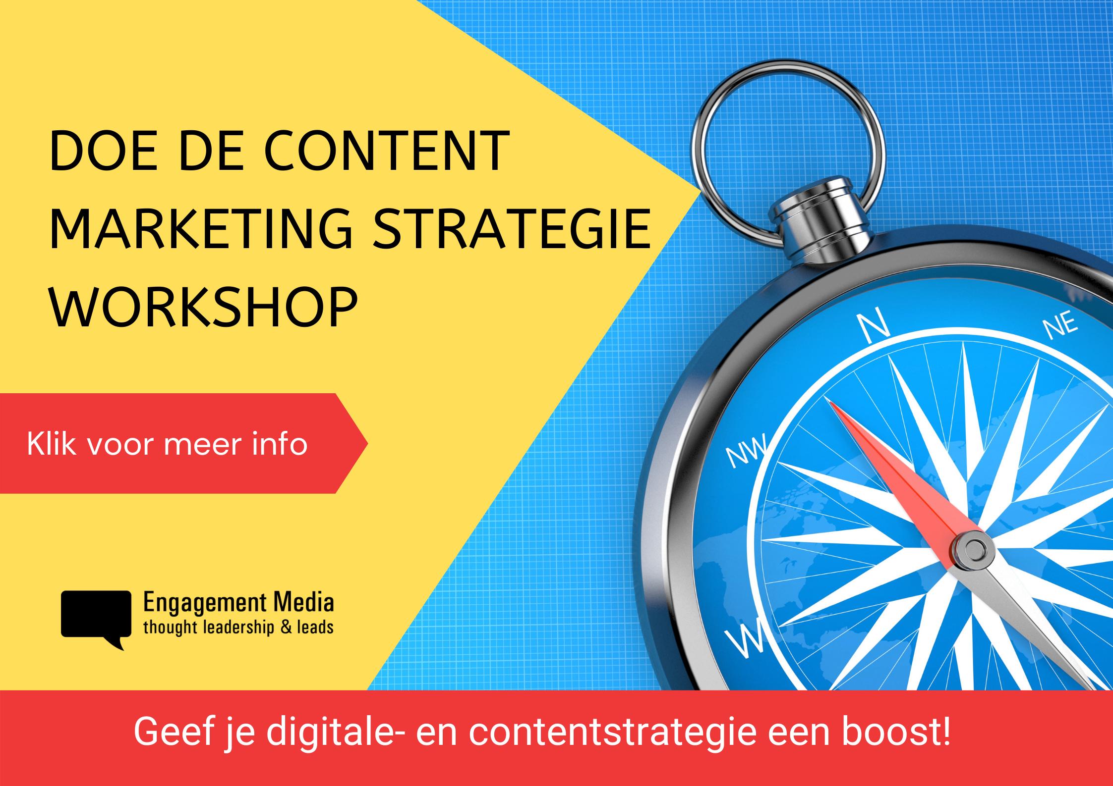 Click voor meer informatie over de Content Marketing Strategie Workshop