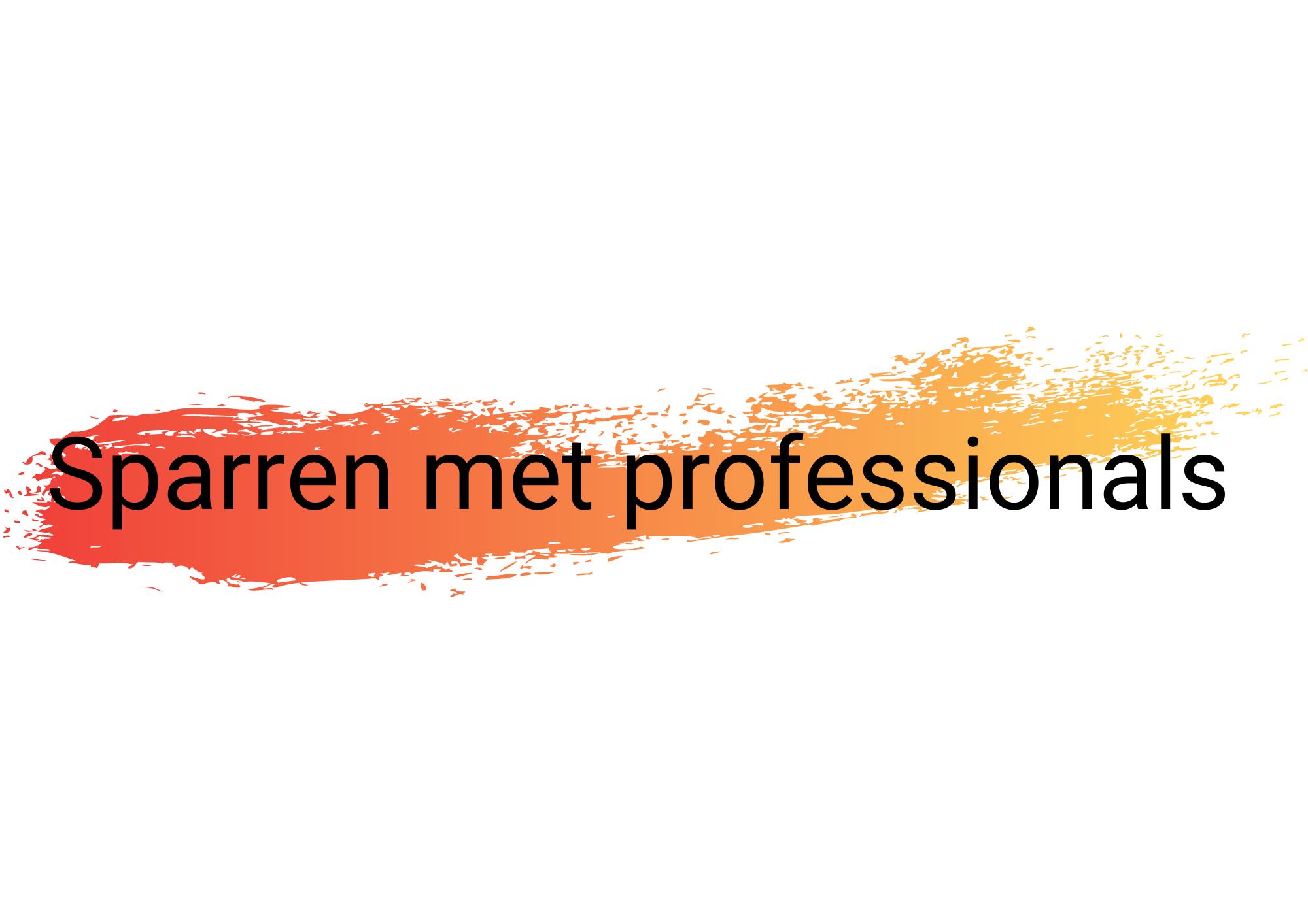 Hulplijn 1 Sparren met professionals