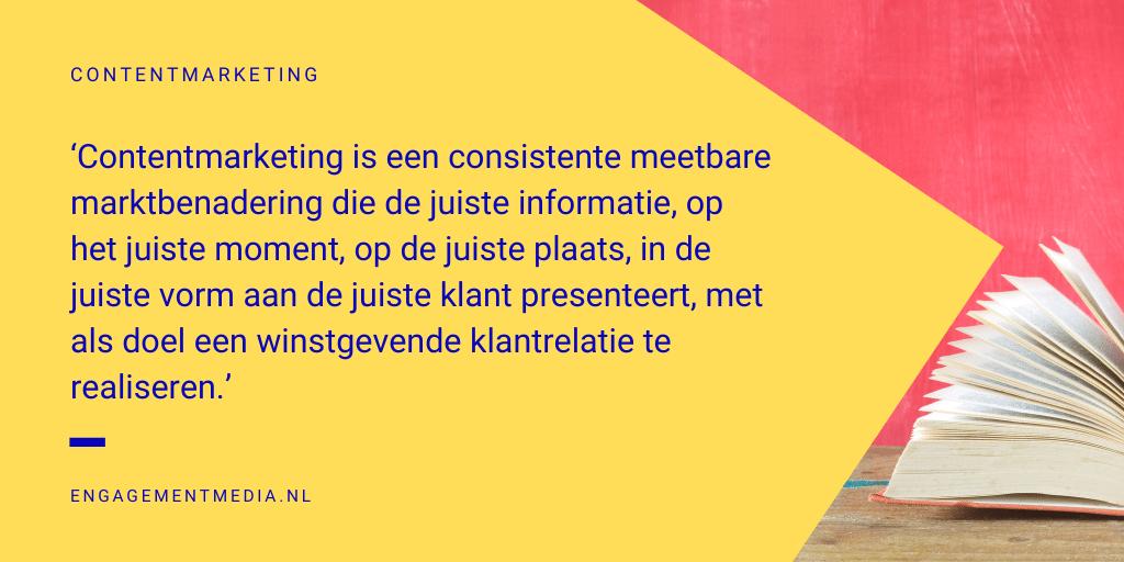 Contentmarketing definitie