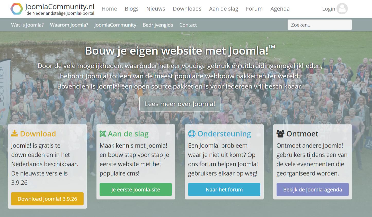 Voorbeeld community JoomlaCommunity.nl